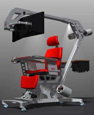 Ultimate hi tech chair for computer addicts