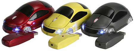 Wireless USB Car Mouse