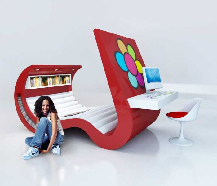Beautiful Hi-Tech Teenage Furniture
