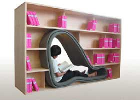 The Cave – Bookcase with a Reading Space