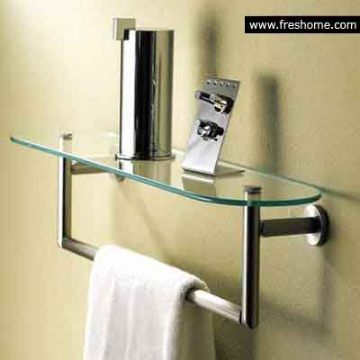 Glass Shelf & Towel Bar