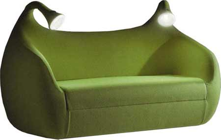 sofa with light
