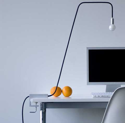 8AM Desk Lamp – A wire with a Bulb