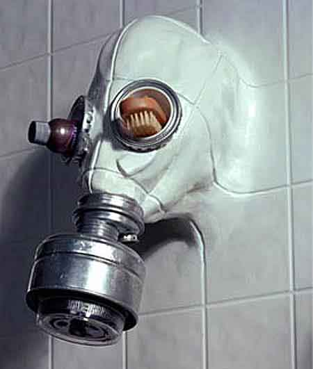 Gas Mask Shower
