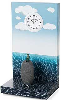 Man Adrift on a Rock Clock