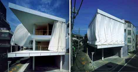 shigeru ban curtain wall house