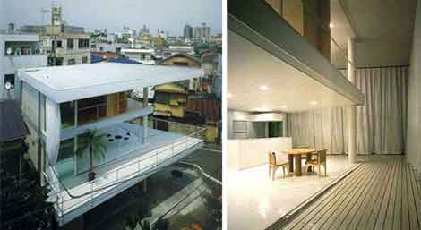shigeru ban curtain wall home