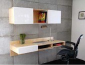 wall mounted desk 170x130 Citizen Office, a Concept Reinventing a Common Day at the Desk