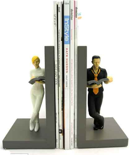 Man and Woman Bookend