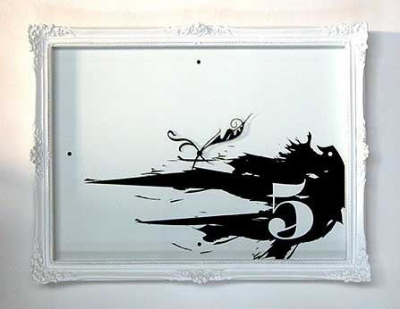 Modern Painting Clock by Progetti Srl