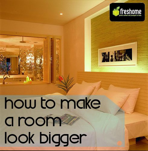 Smart Tricks For Home Decorating Ideas For Small Homes: 5 Tips For Fooling The Eye And Making A Room Look Bigger