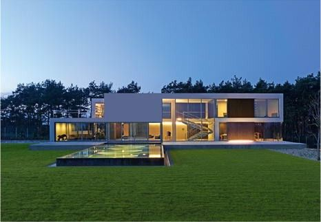 Beautiful Pool of a Modern House - Aatrial House :  beautiful aatrial house modern house