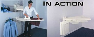 Fold-Away Wall Mounted Ironing Center Ideal for Small Places