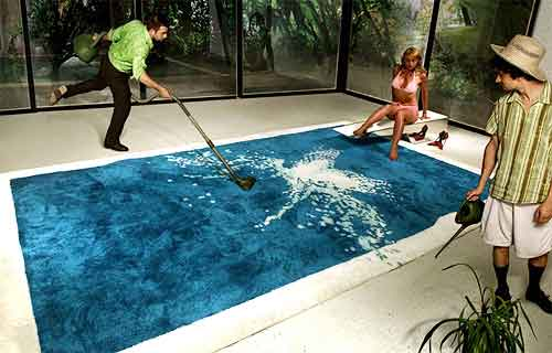 A Rug Inspired by a Pool