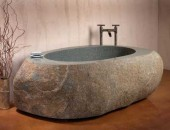 stone bath 170x130 Stone Creek Camp, Amazing Natural Homes and Breathtaking Landscapes