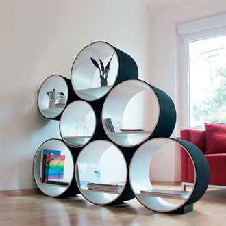 FlexiTube Modular Shelving by Doris Kisskalt