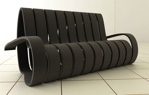 Velvet the Spiral Shaped Sofa