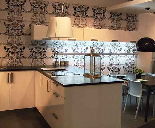 Wall Decorating of Modern Kitchen Design
