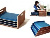 modern lounge tray seating 170x130 Vivid and Colorful Stacking Chair Design: Juicy by Angelo Tomaiuolo