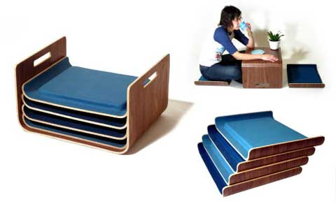 Stacking Tray Seats