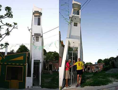 Narrowest House in The World just 1 Meter Wide