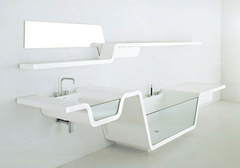 Ebb Bathtub Sink Shelf