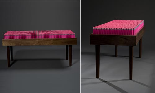 Pencil Bench Made from 1600 Pencils