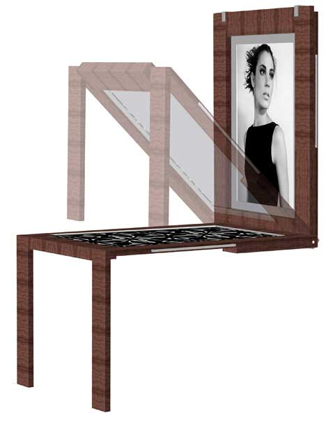 Picture Frame Transforming into a Table
