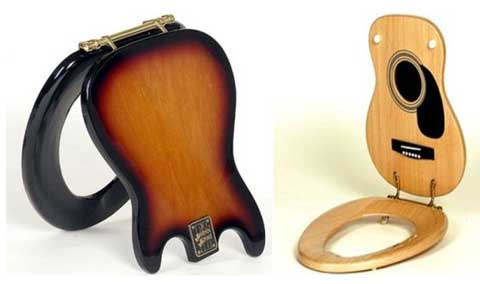 Toilet Seats Inspired by Guitars