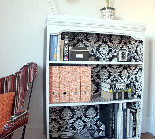 DIY : Black and White Bookself