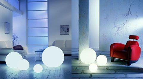 Moonlight Sound Speaker Globes 360° Sound & Pulsating LED Light