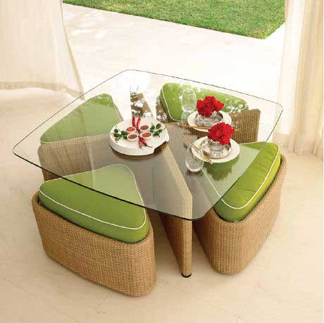 Sushi Table and Stools  by Gloster