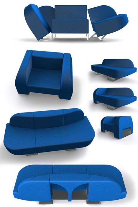 Chair, Sofa, Chaise Lounger all in One