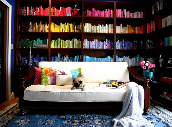 color bookshelf Rainbow Bookshelf