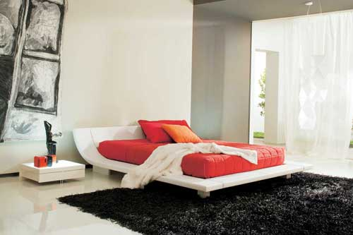 Modern White Bedroom Interior Design