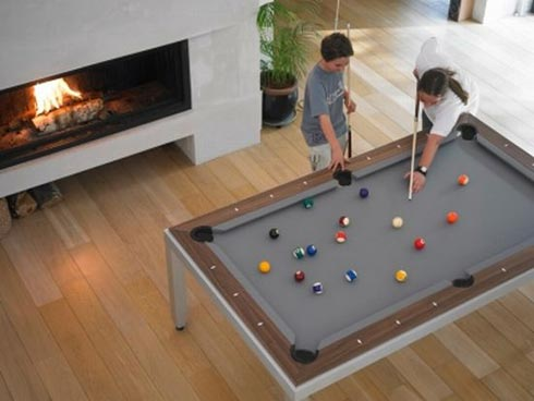 Pool Table Disguised as Dining Room Table