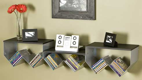 wonderful zig-zag decorative shelf