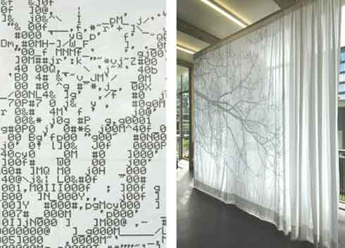 ASCII Code Curtains