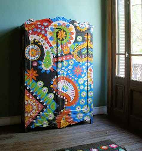 Mural-like Paintings on Furniture by Lucas Rise