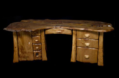 Hand Sculpted Desk Furniture By Allan Lake Freshome Com