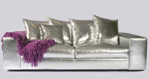 shiny sofa