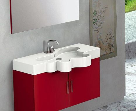 Interesting Flower Vanity from Duebi Italia