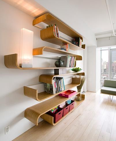Parenthetical Shelves Multiple Configurations and Uses
