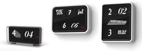 Font Clock Presents the Time using 12 Different Fonts