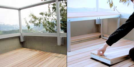 spaceless Patino Furniture that can Save Space in your Balcony