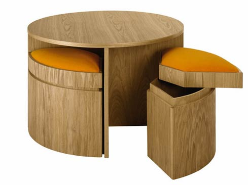 Playdate table with Stools a Smart and Simple Design