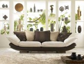upholstered sofa 170x130 Contemporary Bachelor Pad with a Defining Mixture of Styles