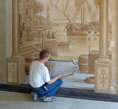 Amazing New Take On House Decoration 3d Wall Paintings Freshome Com