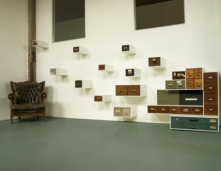 Drawerment : A Composition of Drawers from Old Furniture