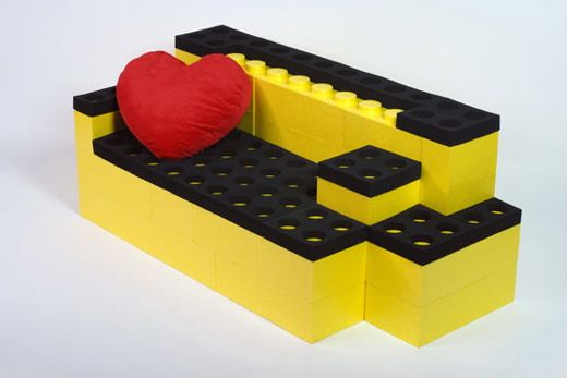 Furniture from Giant Lego Bricks : LunaBlocks